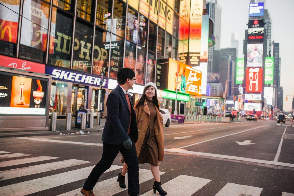 Timessquare-Engagement-Photoshoot-Sashachou-photography