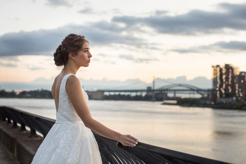 Wedding across the river from Manhattan