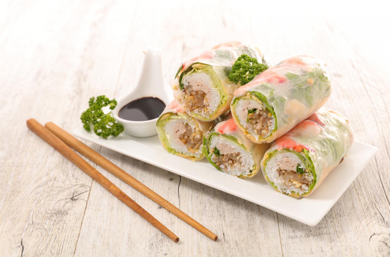 food bar ideas - roll and dumpling bar